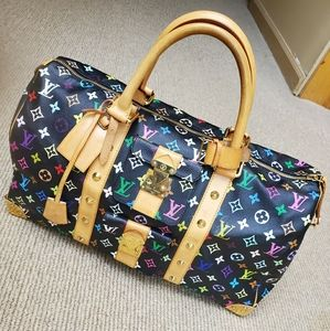 Louis vuitton keepall 45 multicolor black